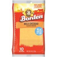 Borden Mild Cheddar Slices, 6 Ounce