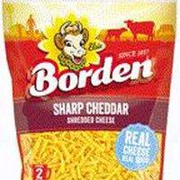 Borden Borden Sharp Cheddar Shreds, 8 Ounce