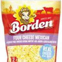 Borden Finely Shredded Four Cheese Mexican Shreds, 8 Ounce