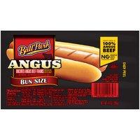 Ball Park Angus Beef Hot Dogs, Bunsize Length, 14 Ounce