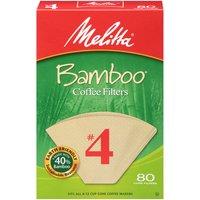 Melitta Coffee Filters #4 Bamboo 80 Ct Box, 80 Each