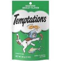 Temptations Temptations Treats for Cats - Seafood Medley, 3 Ounce