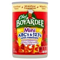Chef Boyardee Cs And 123s With Meatball Mini Bites Pasta, 15 Ounce
