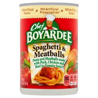 Chef Boyardee Spaghetti And Meatballs, 14.5 Ounce