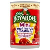 Chef Boyardee Beef Ravioli And Meatballs Mini Bites, 15 Ounce