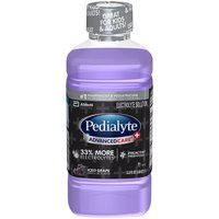 Pedialyte Electrolyte Solution Iced Grape, 1.1 Each
