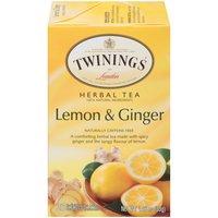 Twinings of London Tea Bags - Herbal Revive Lemon & Ginger, 1.06 Ounce