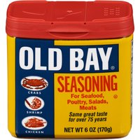 Since 1939, OLD BAY has offered a unique blend of 18 herbs and spices, including celery salt, paprika, red & black pepper. This all-purpose seasoning can spice up anything from seafood to chicken.