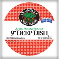 Oronoque Orchards Flaky - Homestyle Pie Crusts - 9 Inch Deep Dish, 16 Ounce