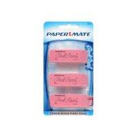 Paper Mate Eraser - Rubber Medium, 3 Each