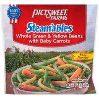 with Baby Carrots. Steams In Minutes.