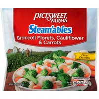 Broccoli Florets,Cauliflower & Carrots; Steams in the Bag in Minutes!