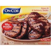 On-Cor Traditionals Gravy & 6 Salisbury Steaks, 28 Ounce