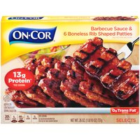 On-Cor Pork Patties with Barbecue Sauce, 26 Ounce