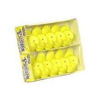 Fluffy yellow marshmallow candy shaped like baby chickens. 10 count package.