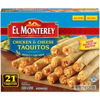 El Monterey Brand Grilled Chicken Cheese Taquitos, 21 Ounce