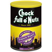 Chock Full O' Nuts Chock Full O' Nuts French Roast Coffee, 10.3 Ounce