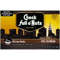 Chock Full O' Nuts Chock Full O' Nuts 100% Colombian Single Serve, 3.8 Ounce