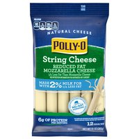 Polly-O String Cheese Made with 2% Milk, 283 Gram