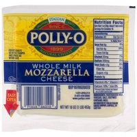Polly-O Whole Milk Mozzarella Cheese, 16 Ounce