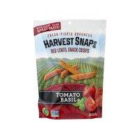 Harvest Snaps Tomato Basil Lentil Bean Crisps, 3 Ounce
