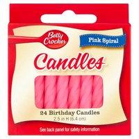 Betty Crocker Birthday Candles - Pink Spiral, 24 Each