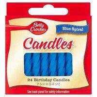 Betty Crocker Birthday Candles - Medium Blue, 24 Each