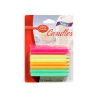 Betty Crocker Candles - Neon, 24 Each