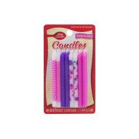 Betty Crocker Pretty In Pink Birthday Candles, 16 Each