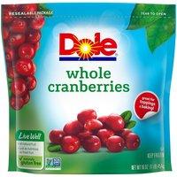 Dole Dole Whole Cranberries, 16 Ounce