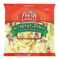Fresh Express Iceberg Lettuce Garden Salad, 12 Ounce