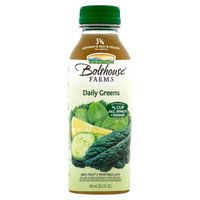 100% fruit juice. Contains kale, spinach, cucumbers and romaine lettuce. 4.5 servings of veggies per serving.  Vitamins A, C, B6 and B12, plus a touch of lemon.