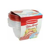 Rubbermaid TakeAlongs Containers + Lids - Round, 4 Each