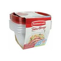 Rubbermaid TakeAlongs Containers + Lids - Deep Square, 4 Each