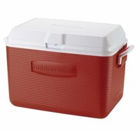 Rubbermaid Red Cooler 48 qt, 1 Each