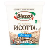 Biazzo Old Fashioned Part Skim Ricotta Cheese, 15 Ounce