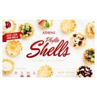 Mini 15 Count. Light, flaky layers of Athen's fillo dough. Fully baked, just fill and serve. No cholesterol.