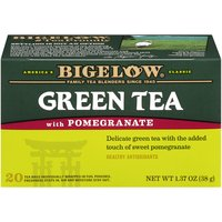 Bigelow Bigelow Green Tea Bags - with Pomegranate, 1.37 Ounce