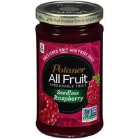 Polaner All Fruit Seedless Raspberry Spreadable Fruit, 10 Ounce