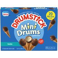 DRUMSTICK Vanilla Dipped Mini Drums Ice Cream Cones, 16.9 Fluid ounce