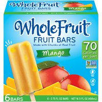 6-2.75 fl oz Bars. Made with Real Chunks of Fruit; Gluten Free, Dairy Free, No HFCS