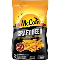 McCain Craft Beer Battered Potatoes - Thin Cut, 22 Ounce