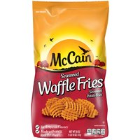 Frozen skin-on, waffle fries.