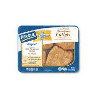 Fully cooked chicken cutlets. Just heat and eat! Made with only white meat chicken. No fillers. Keep refrigerated.