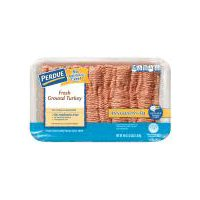 Ground turkey with natural flavorings is packed in a tray for a net weight of 3.00 lbs.