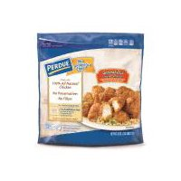 Breaded and glazed chicken breast chunks with rib meat.