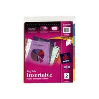 Avery Big Tab Insertable Plastic Reference Dividers, 5 Each