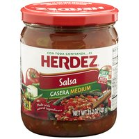 Herdez Salsa - Casera Medium, 15.2 Ounce