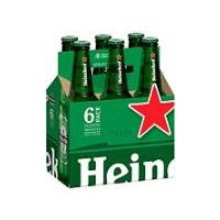Heineken Lager Beer - 6 Pack Bottles, 72 Fluid ounce