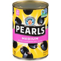 Pearls Ripe Pitted Olives - Medium, 6 Ounce
